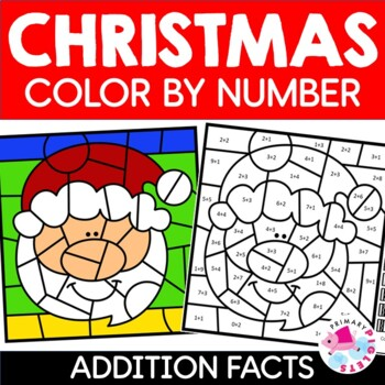 Addition Color by Number Christmas Mystery Pictures by ...