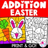 Addition Color by Number Easter Theme