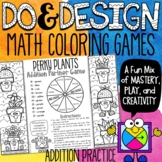 Addition Color by Number Games