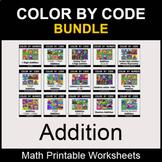 Addition - Color by Number - Math Coloring Worksheets - BUNDLE