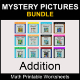 Addition - Color by Number - Math Mystery Pictures - BUNDLE