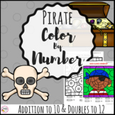 Addition Color by Number Pirates
