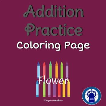 Addition Color by Number Practice (Flower)
