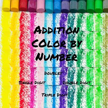 Addition Color by Numbers