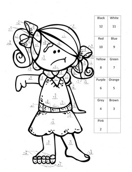 Halloween Addition Color by Numbers Activity