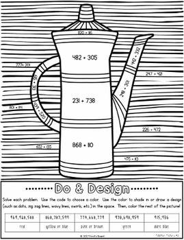 Addition Coloring Pages - Do and Design