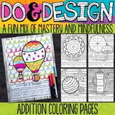 2 and 3 Digit Addition Color by Number - Do and Design