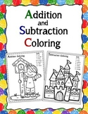 Addition and Subtraction Coloring