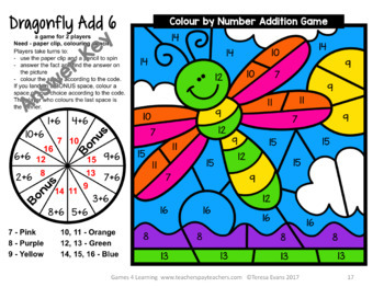 Addition Colour by Number Games [Australian UK NZ Canadian Version]