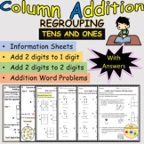 Addition Column Vertical Add 2 Digits Tens and Ones Regrou
