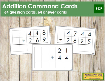 Addition Command Cards