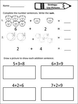 First Grade Addition Unit Common Core