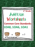 Addition to 20 First Grade Math Worksheets