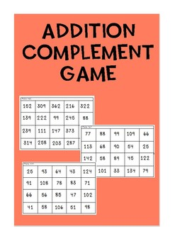 Addition Complement game {16 games}