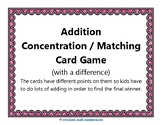 Addition, Concentration, Game with a Difference