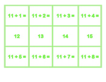 Addition Concentration for 11's
