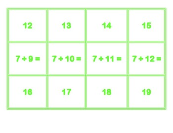 Addition Concentration for 7's