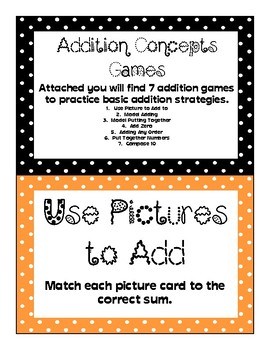 Addition Concepts Activities