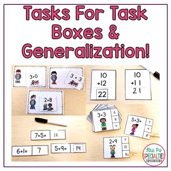 Addition Concepts Math Unit For Special Education (Leveled Math Centers)