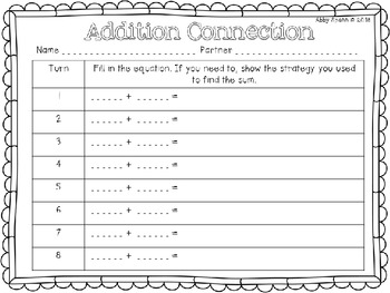 Addition Connection {A Fact Fluency Game}