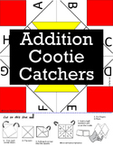 Addition Cootie Catchers (also called Fortune Tellers) Set of 20