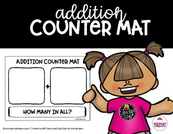 Addition Counter Mat (part, part, whole/how many?)