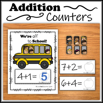 Addition Counters – We're off to School