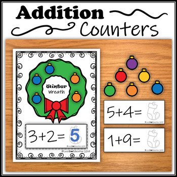 Addition Counters – Winter Wreath