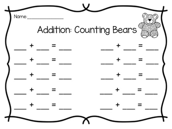 Addition: Counting Bears
