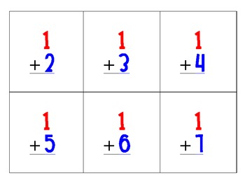 Addition Counting Cards