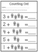 Addition Counting On {Space Theme} FREEBIE