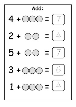 Addition Counting On Up To 10 Trace The Answer