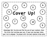 Addition Cover Up Dice Game