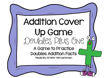 Addition Cover Up Game - Doubles Plus One