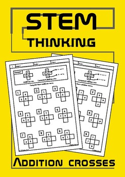 Addition Crosses Elementary School Math Puzzle Worksheets