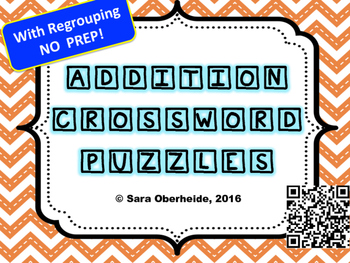 Addition Crossword Puzzles (with regrouping)