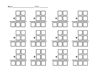 Addition Currency Subtraction Boxes - 2 Digit, 3 Digit and 4 Digit Numbers