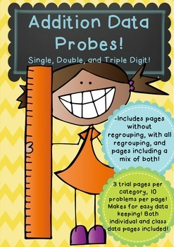 Addition Data Probes - with, without and mixed pages involving Regrouping!