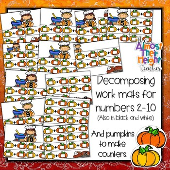 Decomposing Numbers to 10 - Pumpkin themed