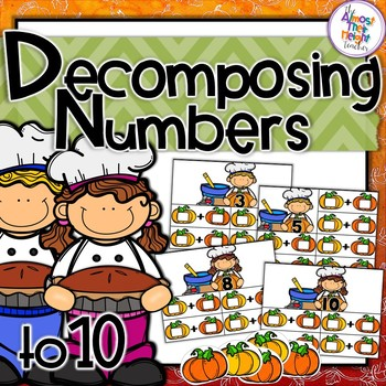 Addition - Decomposing Numbers - Pumpkin theme -Numbers 2-10