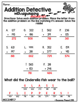 3-Digit Addition with Regrouping {2nd Grade}