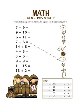 Addition Detectives Package