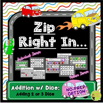 Addition Dice Game: Cars