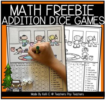 Addition Dice Game- July 4th *FREEBIE*