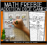 Addition Dice Games and Coloring Pages for Summer - FREEBIE