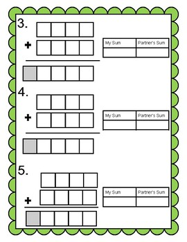 Addition Dice Game (With and Without Regrouping)