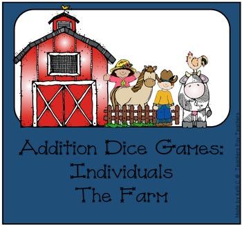 Addition Dice Game ~ Farm Edition