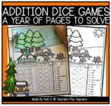 Addition Dice Games and Coloring Pages for the Year