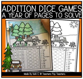 Addition Dice Coloring Games For Each Month (and some extras too)