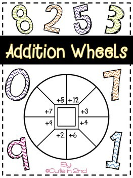 Math Addition Dice Wheel Game for Centers PRINT AND GO!